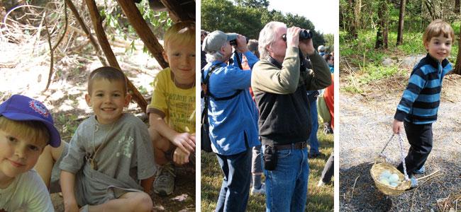 various events with PVAS: Audubon Discovery Camp, Birding, Egg Hunt