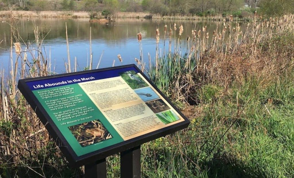 Sign at Stauffer's Marsh